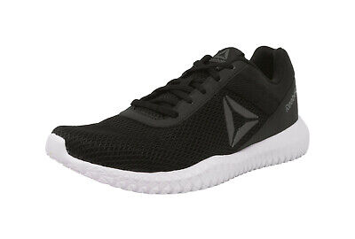 REEBOK Men Trainer Shoes Flexagon Energy Mesh Nylon Black Gray White