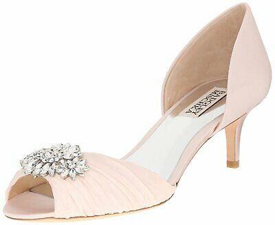 BADGLEY MISCHKA Womens Caitlin Peep Toe D-orsay Pumps, Light Pink, Size 7.0 rN8Z