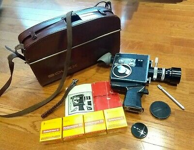 BOLEX K2 8mm Cine Movie Camera + KERN Vario-Switar 36mm 1:1.9 Lens + Case + Film