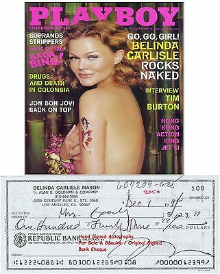 BELINDA CARLISLE  MUSIC STAR SINGER  THE GO-GO's    SIGNED CHEQUE 1994 RARE ITEM