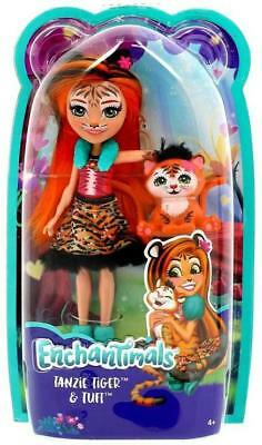 ENCHANTIMALS TANZIE TIGER DOLL & TUFT ~ by MATTEL ~ LIMITED + COLLECTIBLE ~ NIP