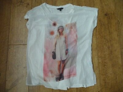 Girls Cream two piece short sleeve summer top Age 14yrs