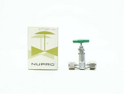 Nupro SS-6JBR Manual Tube Stainless 3/8in Needle Valve