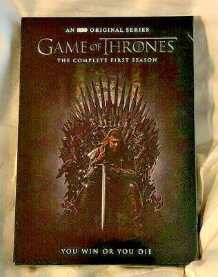 Game of Thrones: The Complete First Season (DVD, 2015, 5-Disc Set) New