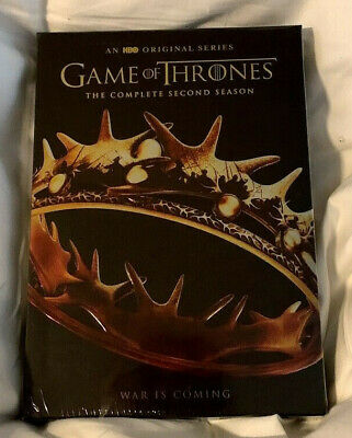 Game of Thrones: The Complete Second Season (DVD, 2015, 5-Disc Set) New Sealed