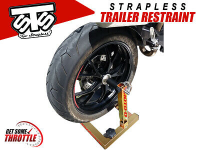 STS Aprilia RSV4 Strapless Transport Stand - Motorcycle Trailer Restraint