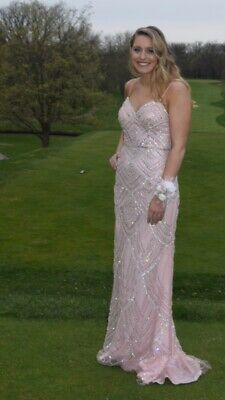 673d117b92f4 jovani Pink Beaded prom dress size 8. In great condition. Paid over $600