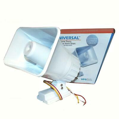 Universal Power Group UPG SS30P Dual Horn Style Two Tone Piezo 30W Outdoor Siren