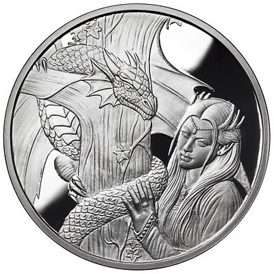 1 Oz Silver Coin Anne Stokes Dragons Series Kindred Spirits 2Nd In Series # Coa