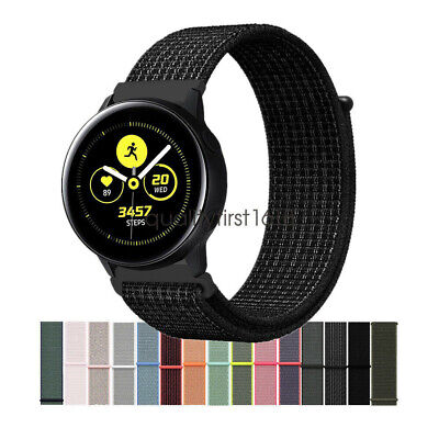 Woven Nylon Sport Loop Wrist Watch Band Strap For Samsung Galaxy Watch Active