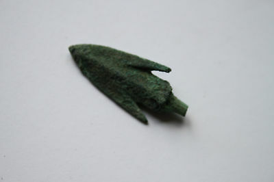 ANCIENT GREEK BRONZE ARROWHEAD 6/5th CENTURY BC