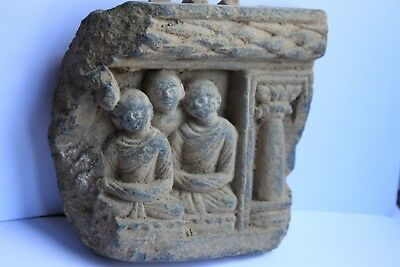 Ancient Indo Greek Buddhist  Buddha  Figure Freeze Group 200/400 Ad