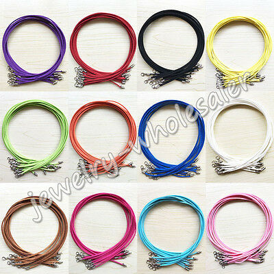 Lots Suede Leather String Necklace Cord Bracelet Jewelry Making Craft DIY 47cm