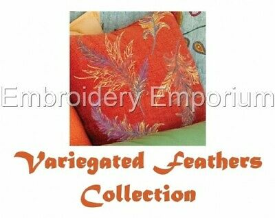 Variegated Feathers Collection - Machine Embroidery Designs On Cd Or Usb