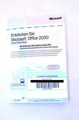 """Microsoft Office 2000 Small Business """"Entdecken Sie..."""" + Product Key #4"""