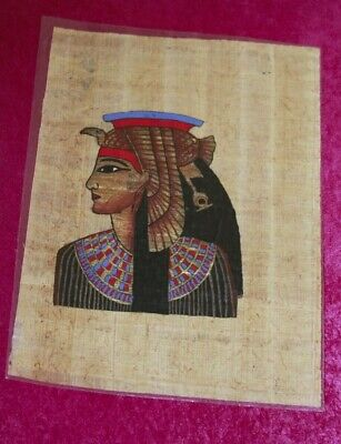 3 small Egyptian Papyrus Paintings handmade in Egypt about 25 years ago (No 6)