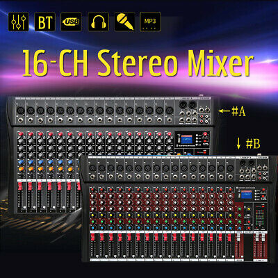 16 Channel Professional Powered Music Stereo Mixer USB Mixing Console Amp