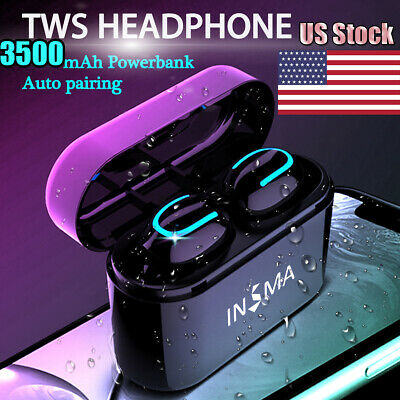 Wireless Earbuds bluetooth 5.0 TWS Waterproof Earphones for iPhone IOS Android