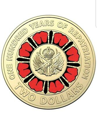 2019 $2 2 Dollar Coin -100 Years Of Repatriation - Unc From Mint Bag - New