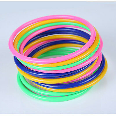 10 Pcs Colorful Hoopla Ring Toss Cast Circle Sets Educational Toy Puzzle Kid Z0H