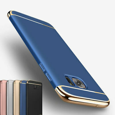 For Samsung Galaxy S7 S8 S9 S10 Plus Luxury Slim Shockproof Bumper Case Cover