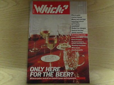 June 1987, WHICH MAGAZINE, Wine in Pubs, Contact Lenses, Wine Boxes, Food Mixers