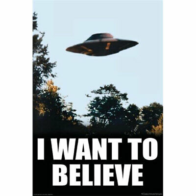 X-Files - I Want To Believe - POSTER 61x91cm NEW Fox Mulder office UFO picture