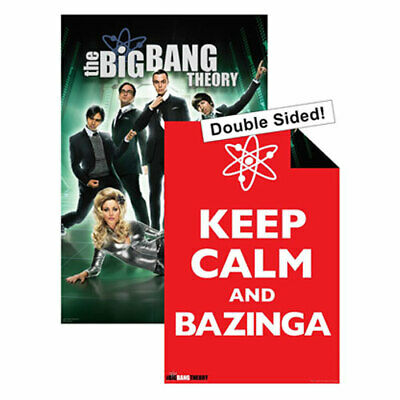 Big Bang Theory Double-Sided POSTER 61x91cm NEW Keep Calm and Bazinga Futuristic