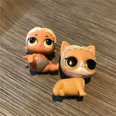 2PCS LOL Surprise Pets Doll M.C. Meow MYSTERY CAT&Lil Sister MerbabyTheater Toy
