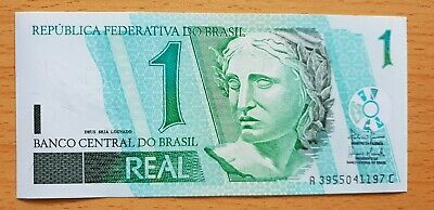 BRAZIL 1 Real ND 2003 P251 UNC Banknote