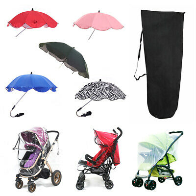 Buggy Pushchair Baby Stroller Pram Rain Insect Cover Sun Shade Canopy Travel Bag