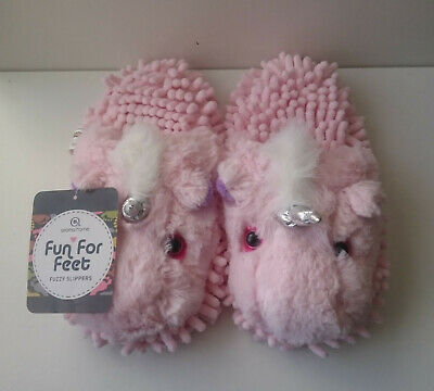 Girls Aroma Home - Fun for Feet - Fuzzy Kids Slippers - size UK 4 / EUR 36