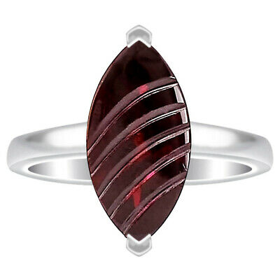 Hessonite Garnet 925 Sterling Silver Ring Jewelry DRR1077_C