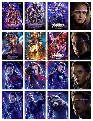 Marvel Avengers Endgame Movie A3 A4 POSTER PRINT 2019 Odeon ART BUY 1 GET 2 FREE