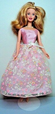 BIRTHDAY teen Barbie doll hair in original Mattel 2001 fashion gown with SHOES