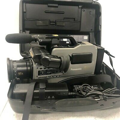 Panasonic AG 456 S VHS Reporter Video Camera Pro Line With Case Tested Working