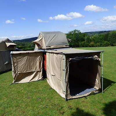 1.4m x 2.0m Expedition Awning Outdoor Tent For 4X4S Vans And Motorhomes Boxed