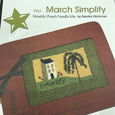 Pine Mountain Punch Needle Embroidery Kit Frame March Simplify