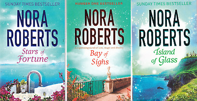 Nora Roberts 3 Book Set Guardians Trilogy Stars Of Fortune Bay Of Sighs & Island