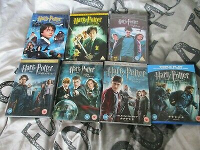 Harry Potter Dvd/ Blueray Collection - Free P&P