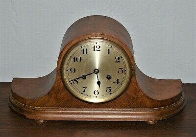Antique Mantle Clock Napoleon Hat With Key and Striking Mechanism Working Order