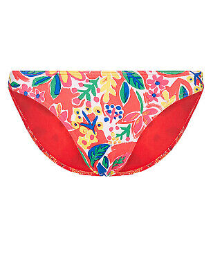 Ex Marks and Spencer Floral Printed /& Plain Bikini Tops Size 12 P121