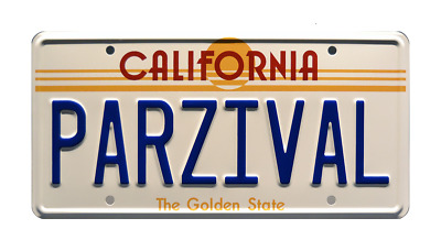 DeLorean Time Machine PARZIVAL License Plate Ready Player One