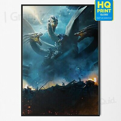 Godzilla King of the Monsters Movie 2019 Film Poster Print | A4 A3 A2 A1 |