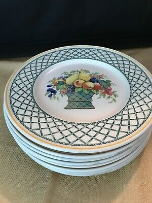 "Villeroy and Boch ""Basket"" 8 1/2"" Round Salad/Lunch Plate(s) Made in Germany EUC"