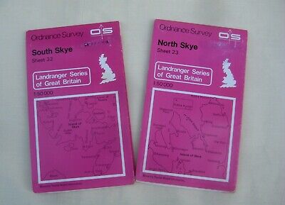 Skye – North Skye and South Skye Ordnance Survey  Maps - Sheets 23, 32
