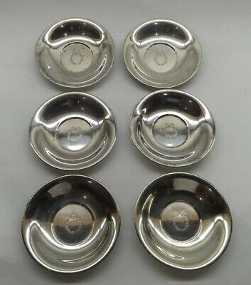 Antique Sterling Silver Simon Brothers Butter Pats Nut Bowls Set Marked