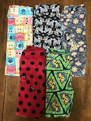 66320766936fac Lularoe Disney Minnie Jasmine Flounder Thumper L/XL Leggings Used Lot VHTF