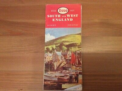 Old Esso Road Map South And West England section no 3 Collectable.