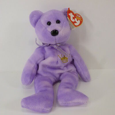TY BEANIE BABIES YOURS TRULY 2002 Purple Bear